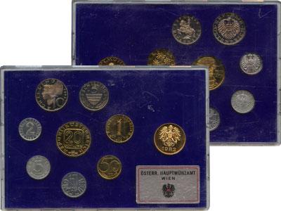 Изображение Подарочные монеты Европа Австрия Набор монет 1982 1982  Proof