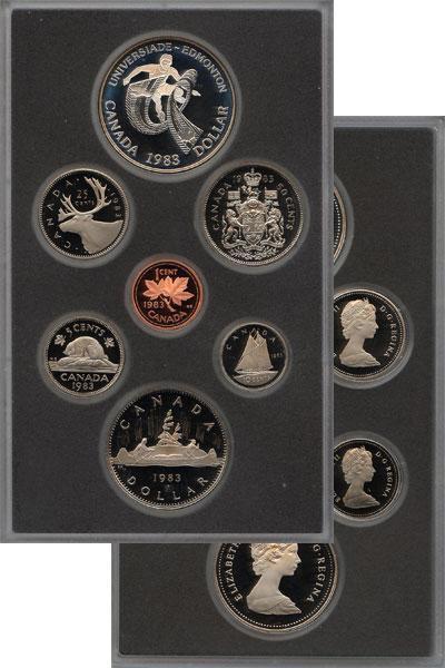 Изображение Подарочные монеты Северная Америка Канада Памятный набор 1983 1983  Proof