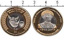 Изображение Мелочь Африка Экваториальные Африканские территории 1 франк 2014 Биметалл UNC-