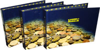 Изображение Аксессуары для монет Альбом российский! <font color=red>NEW</font> Альбом ламинированный для монет с 10 листами 5+5 (180 ячеек) 0   Альбом в комплекте с