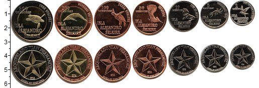 Изображение Наборы монет Чили Остров Александра Селькирка Остров Александра Селькирка 2014 2014  UNC-