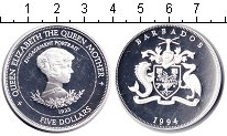 Изображение Монеты Барбадос 5 долларов 1994 Серебро Proof