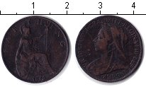 Изображение Монеты Европа Великобритания 1 фартинг 1899 Медь VF