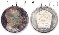 Изображение Монеты Чехословакия 100 крон 1976 Серебро Proof-