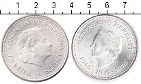 Изображение Монеты Европа Нидерланды 10 гульденов 1970 Серебро UNC-