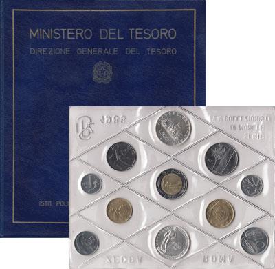 Изображение Подарочные монеты Европа Италия Донателло 1986  UNC