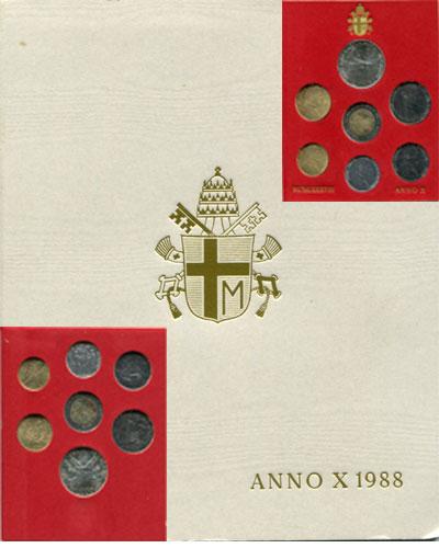 Изображение Подарочные монеты Ватикан Anno X 1988 1988  UNC