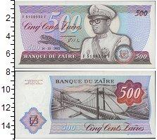 Изображение Банкноты Конго Заир 500 заир 1985  UNC