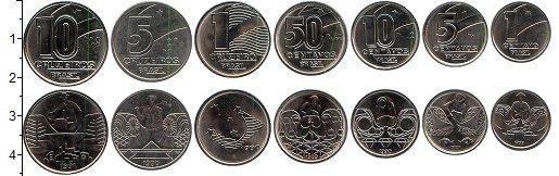 Изображение Наборы монет Южная Америка Бразилия Бразилия 1989-1991 0 Медно-никель UNC-