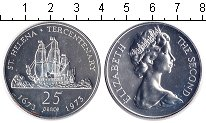 Изображение Монеты Остров Святой Елены 25 пенсов 1973 Серебро UNC-