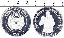 Изображение Монеты Тонга 50 сенити 1998 Серебро Proof- Олимпийские игры 200