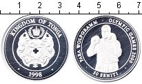 Изображение Монеты Австралия и Океания Тонга 50 сенити 1998 Серебро Proof-