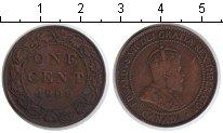 Изображение Монеты Канада 1 цент 1909 Медь VF Эдвард VII