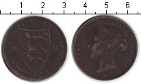 Изображение Монеты Великобритания Остров Джерси 1/12 шиллинга 1877 Медь VF