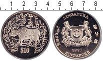 Изображение Монеты Сингапур 10 долларов 1997 Медно-никель Proof-
