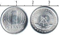 Изображение Мелочь ГДР 1 пфенниг 1989 Алюминий UNC- A