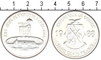 Изображение Монеты Гвинея 300 франков 1988 Серебро UNC- XXV Олимпиада