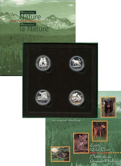 Изображение Подарочные монеты Северная Америка Канада Сохранение животного мира 1996 Серебро Proof