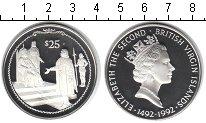 Изображение Монеты Северная Америка Виргинские острова 25 долларов 1992 Серебро Proof-