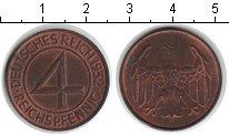 Изображение Монеты Германия Веймарская республика 4 пфеннига 1932 Медь XF