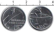 Изображение Монеты Сан-Марино 100 лир 1990 Медно-никель UNC-
