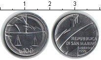 Изображение Монеты Сан-Марино 100 лир 1990 Медно-никель UNC- весы