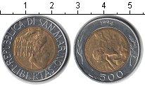 Изображение Монеты Европа Сан-Марино 500 лир 1994 Биметалл XF