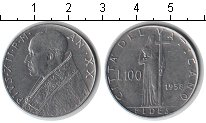 Изображение Монеты Европа Ватикан 100 лир 1958 Железо XF