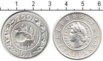 Изображение Монеты Европа Италия 1 лира 2001 Серебро UNC-