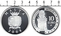 Изображение Монеты Европа Мальта 10 евро 2008 Серебро Proof-