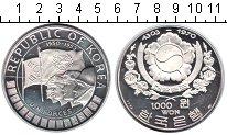 Изображение Монеты Азия Южная Корея 1000 вон 1970 Серебро Proof-