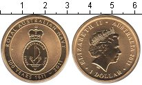 Изображение Мелочь Австралия 1 доллар 2011 Латунь UNC Елизавета II.