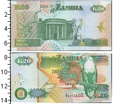 Изображение Банкноты Африка Замбия 20 квач 1992  UNC