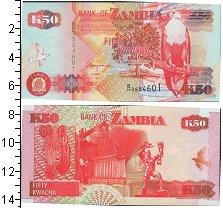 Изображение Банкноты Замбия 50 квач 1992  UNC