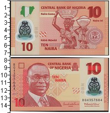 Изображение Банкноты Африка Нигерия 10 найра 2013  UNC