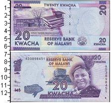 Изображение Банкноты Африка Малави 20 квач 2012  UNC