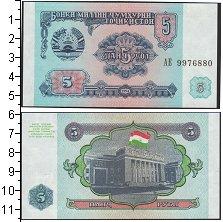 Изображение Банкноты СНГ Таджикистан 5 рублей 1994  UNC