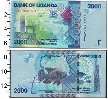Изображение Банкноты Африка Уганда 2000 шиллингов 2010  UNC