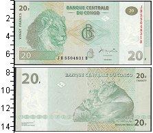 Изображение Банкноты Африка Конго 20 франков 2003  UNC