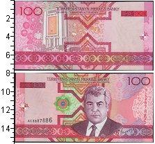 Изображение Банкноты СНГ Туркменистан 100 манат 2005  UNC