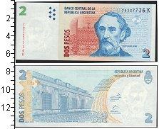 Изображение Банкноты Южная Америка Аргентина 2 песо 0  UNC