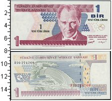 Изображение Банкноты Турция 1 лира 2005  UNC