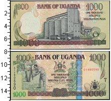 Изображение Банкноты Уганда 1000 шиллингов 2009  UNC