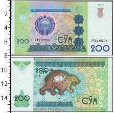 Изображение Банкноты Узбекистан 200 сом 1997  UNC