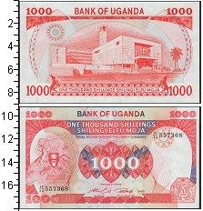 Изображение Банкноты Африка Уганда 1000 шиллингов 1986  UNC