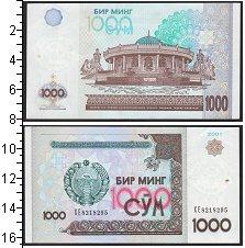 Изображение Банкноты СНГ Узбекистан 1000 сом 2001  UNC