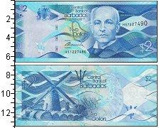 Изображение Банкноты Северная Америка Барбадос 2 доллара 2013  UNC