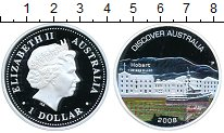 Изображение Монеты Австралия 1 доллар 2008 Серебро Proof-