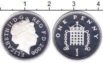 Изображение Монеты Великобритания 1 пенни 2006 Серебро Proof- Елизавета II