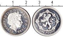 Изображение Монеты Европа Великобритания 1 фунт 1999 Серебро Proof-